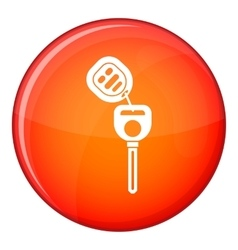 Car key with remote control icon flat style vector