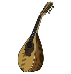 Classic wooden mandolin vector image vector image