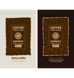 coffee packing vector image vector image