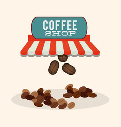 Coffee shop bean dish fresh vector