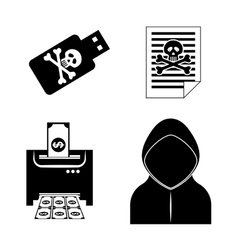 Digital fraud and hacking design vector