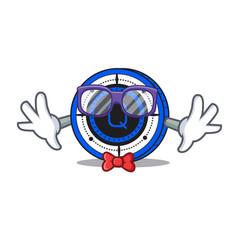 Geek qash coin character cartoon vector