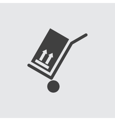 Hand cart icon vector