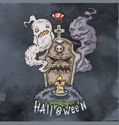 happy halloween cartoon evil vector image vector image