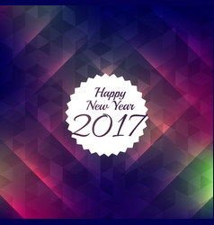 Happy new year shiny style background for 2017 vector