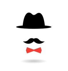 Icon of retro gentleman isolated on white vector image