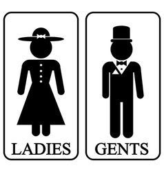 Icons of men and women vector image