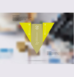 Infographic template with triangle vertically vector