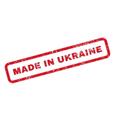 Made in ukraine text rubber stamp vector