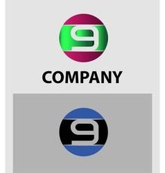 Number logo design Number five logo Logo 9 vector image vector image