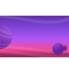 Outer space background with sky and planet vector