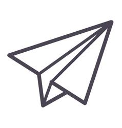 Paper plane icon vector