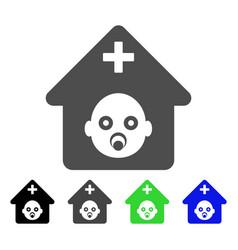 Prenatal hospital icon vector