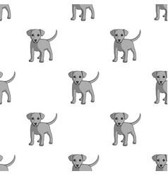 puppy labradoranimals single icon in monochrome vector image