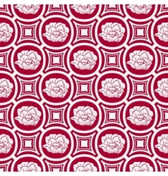 Repeating floral pattern in eastern style of vector image vector image