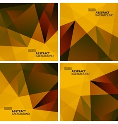 Set of Bright Colorful Abstract Geometric vector image vector image