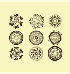 set of vintage design elements11 vector image vector image