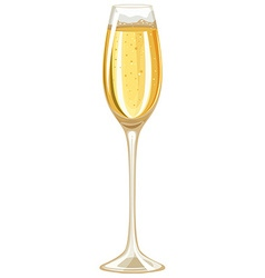 Single glass of white wine vector image vector image