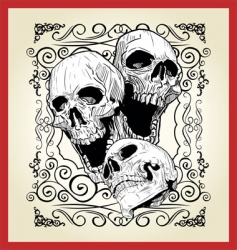 skull tattoo illustration vector image vector image