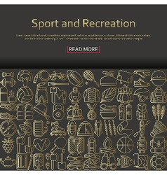 Sport and recreation concept vector image