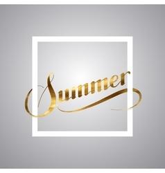 Summer retro label vector