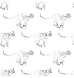 Tiger seamless pattern vector