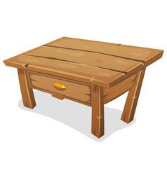 Wood little table vector