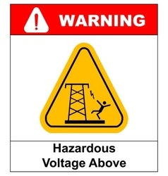 Hazardous voltage above warning banner vector