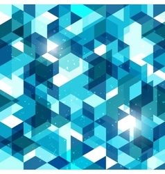 Seamless geometric background in blue Abstract vector image