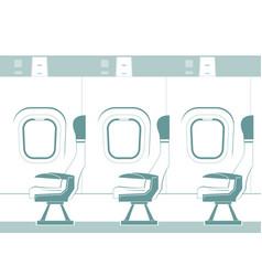 Aircraft cabin silhouette vector