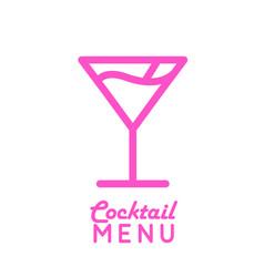 Icon of cocktail cosmopolitan vector