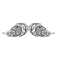 Ornate mustache shape for your design vector