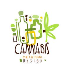 Cannabis label original design logo graphic vector