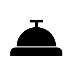 Button bell isolated icon vector