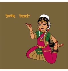 Indian dancer girlNice backgroundcard for your vector image