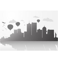 New york city skyline vector