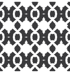 Tribal black white textile seamless pattern vector