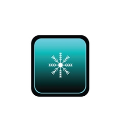 Button of snowflake weather vector