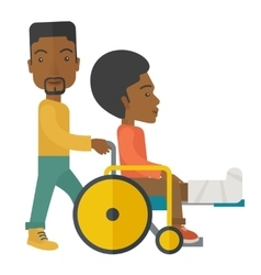 Patient in wheelchair vector