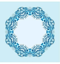 Round frame from abstract element vector