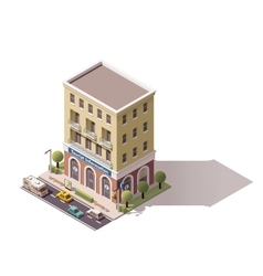 Isometric tourist information centre vector