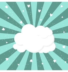 Cloud and heart background vector