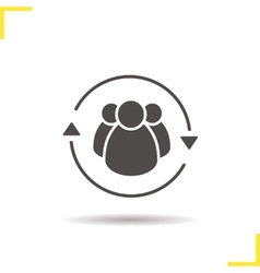 Team management icon vector