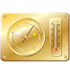 Barometer for determination of weather vector