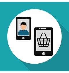 Social media multimedia icon online concept vector
