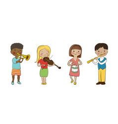 Musician children set vector