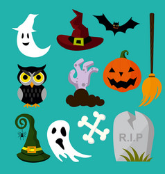 a halloween element owl vector image