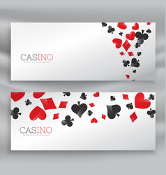 awesome set of casino banners vector image vector image