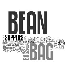 Bean bag supplies text word cloud concept vector