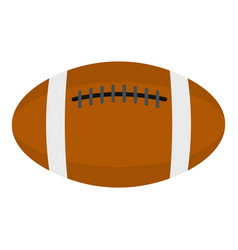 Brown leather rugby ball icon isolated vector
